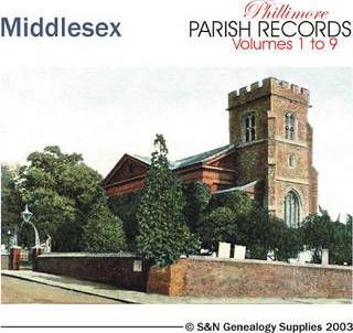 Middlesex Parish Records: All 9 Volumes of Phillimore's Middlesex Parish Records Transcripts v. 1