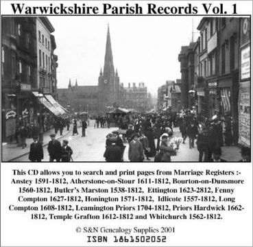 Warwickshire Parish Records: Marriage Registers in the Complete Phillimore Series for Warwickshire v. 1-3