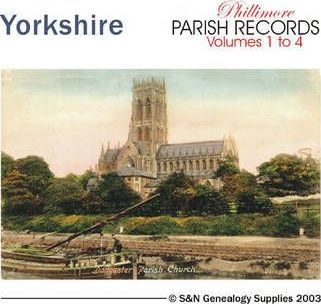 Yorkshire Parish Records: All 4 Volumes of Phillimore's Yorkshire Parish Record Transcripts Covering Rotherham and Doncaster St George 1500s to 1837 v. 1-4