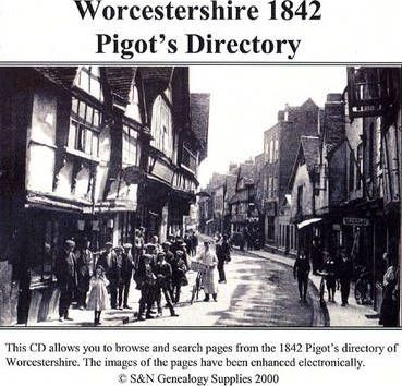 Worcestershire 1842 Pigot's Directory