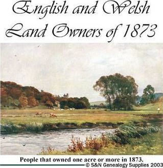 English and Welsh Land Owners of 1873