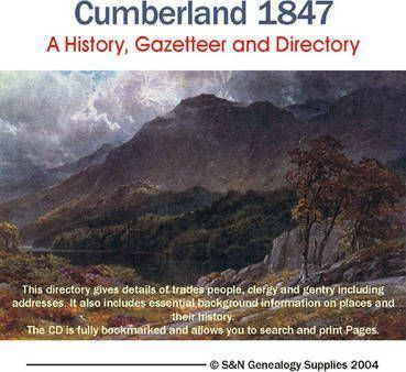 Cumberland History, Gazetteer and Directory 1847
