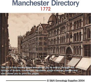 Manchester Directory 1772
