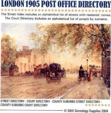 London 1905 Post Office Directory