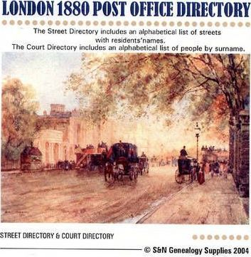 London 1880 Post Office Directory