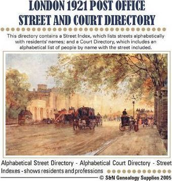 London Post Office Street and Court Directory 1921: Vol. 1