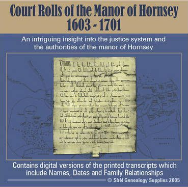 Court Rolls of the Manor of Hornsey 1603-1701