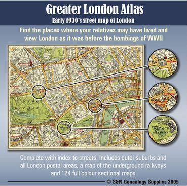 Greater London Atlas - Early 1930's Street Map of London