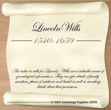 Lincoln Wills 1540-1659