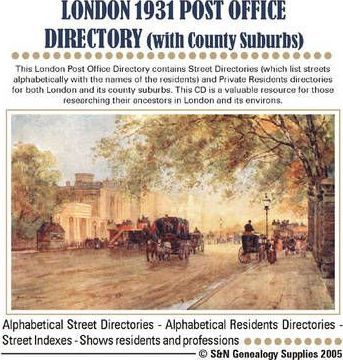 London Post Office Directory with County Suburbs 1931