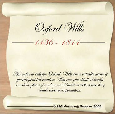 Oxford Wills 1436-1814