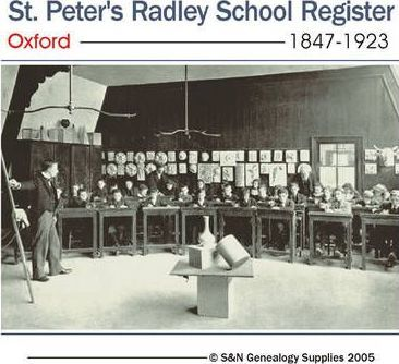 St. Peter's Radley School Register Oxford 1847-1923