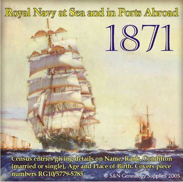Royal Navy Ships at Sea and in Ports Abroad in the 1871 Census