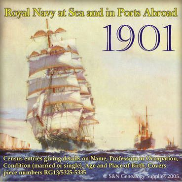 Royal Navy Ships at Sea and in Ports Abroad in the 1901 Census