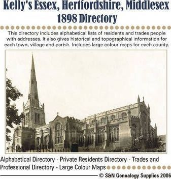 Essex, Hertfordshire and Middlesex 1898 Kelly's Directory