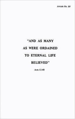 Ordained to Eternal Life - Article