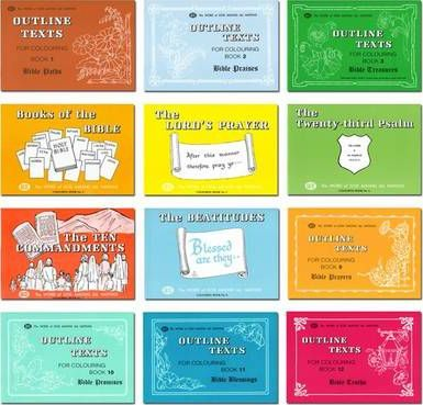 Set of Scripture Colouring Books - Series 1: Outline Texts of Authorised (King James) Version of the Bible