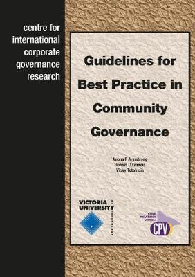 Guidelines for Best Practice in Community Governance