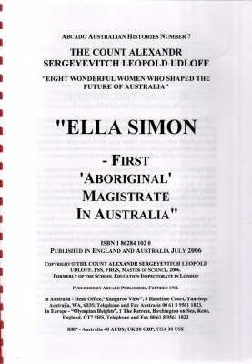 Ella Simon: First Aboriginal Magistrate in Australia