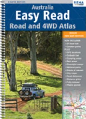 Australia Easy Read Road & 4WD Atlas