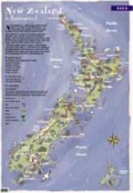 Map of New Zealand Wallchart (Junior)
