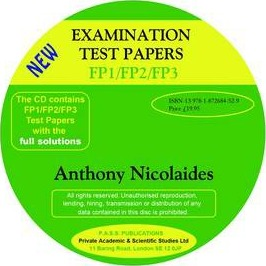 Examination Test Papers FP1/FP2/FP3 with Full Solutions