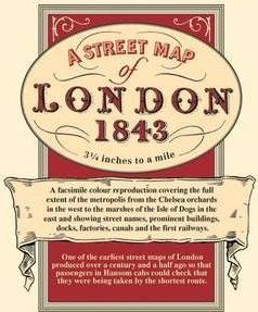 A Street Map of London, 1843