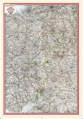 East Wales and West Midlands - Coloured Victorian Map 1897