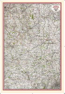 Central England - Coloured Victorian Map 1897