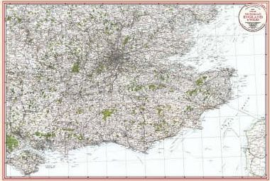 South East - Coloured Victorian Map 1897