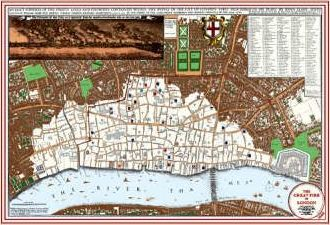 Great Fire of London Map 1666