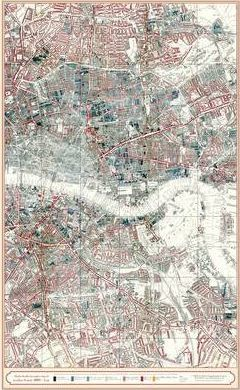 London Poverty Map 1889 - East London