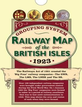 Railway Grouping System Map of the British Isles 1923 (Folded in a Wallet)