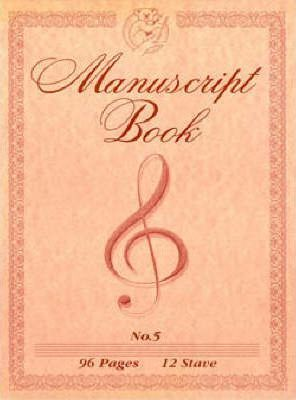 Manuscript Book 5 - A4 Pad with Hole, 96 Pages, 12 Stave