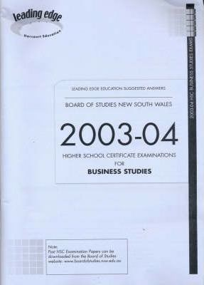 2003-04 HSC Business Studies Exam Answers
