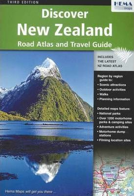 Discover New Zealand Atlas and Guide : Hema Maps : 9781877302732