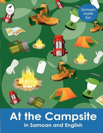 At the Campsite in Samoan and English Cover Image
