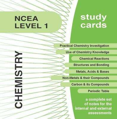 NCEA Level 1 Chemistry Study Cards