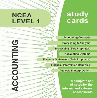 NCEA Level 1 Accounting Study Cards
