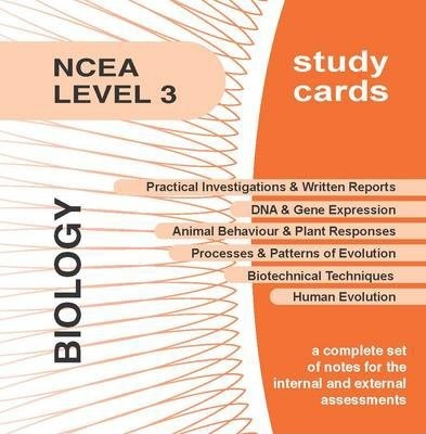 NCEA Level 3 Biology Study Cards
