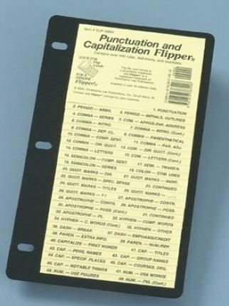 Punctuation and Capitalization Flipper/Clp390W