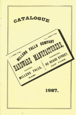 Millers Falls Co. 1887 Catalog