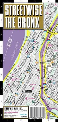 Map Of New York Bronx.Streetwise The Bronx Map Laminated City Street Map Of The Bronx
