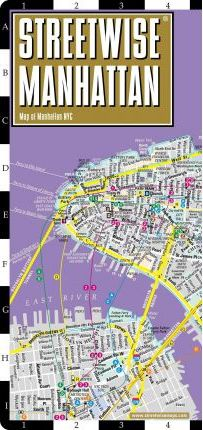 Streetwise Manhattan Map - Laminated City Street Map of Manhattan, New York