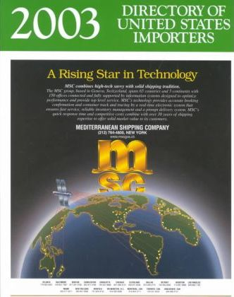 Directory of United States Importers 2003