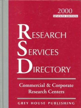 Research Services Directory 1999-2000