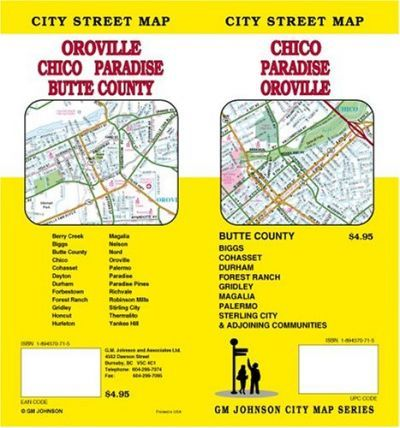 City Street Map, Chico, Paradise, Oroville