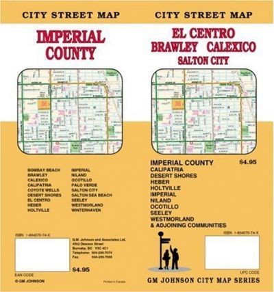 City Street Map, El Centro, Brawley, Calexico, Salton City