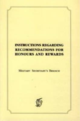 Instructions Regarding Recommendations for Honours and Awards (1918)