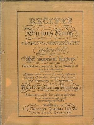 Recipes of Various Kinds